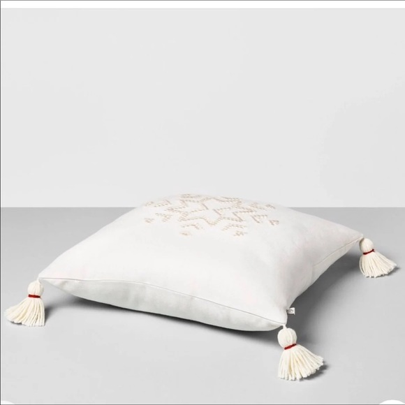 Hearth & Hand Other - Hearth & Hand Snowflake Embroidered Pillow